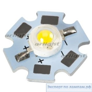 Мощный светодиод на плате ARPL-Star-3W-BCX45 Warm White - Arlight-019586