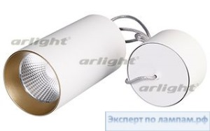 Светильник подвесной SP-POLO-R85-2-15W Day White 40deg (White, Gold Ring) - Arlight-022943