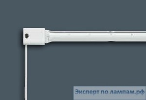 Лампа инфракрасная линейная DR.FISCHER White Integrated Reflector 13561U/98 144V 1200W U-CLIP - DF-924586157706