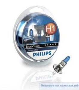 Лампа автомобильная PHILIPS SET BLUEVISION 2H1+2W5W - PH-12258BVnab