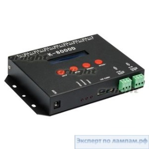Контроллер DMX K-8000D (4096 pix, SD-card) - Arlight-019070