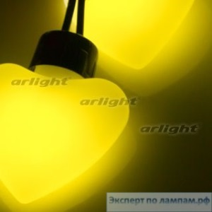 Гирлянда ARL-HEART-5000-20LED Yellow (220V, 5W) - Arlight-019838