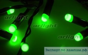 Гирлянда ARL-BULLET-5000-50LED Green (220V, 5W) - Arlight-019843