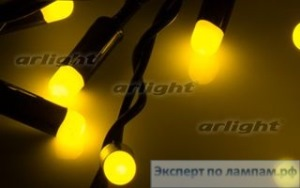 Гирлянда ARL-BULLET-5000-50LED Yellow (220V, 5W) - Arlight-019845