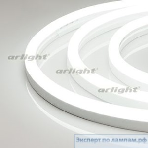 Гибкий неон ARL-CF2835-U15M20-24V White (26x15mm) - Arlight-021342