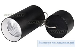 Светильник подвесной SP-POLO-R85-2-15W Warm White 40deg (Black, White Ring) - Arlight-022958