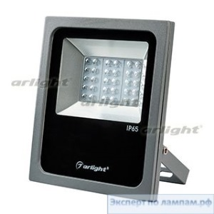 Светодиодный прожектор AR-FLAT-ARCHITECT-30W-220V Day (Grey, 50x70deg) - Arlight-024171