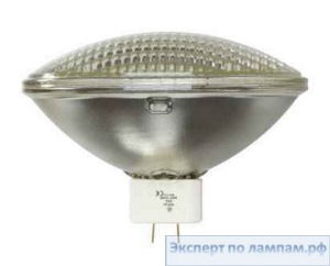 Лампа специальная студийная General Electric SHOWBIZ Q1000PAR64MFL120V 1000W 3000K 80000cd 4000h ExMogEndPr GX16d - GE-43498