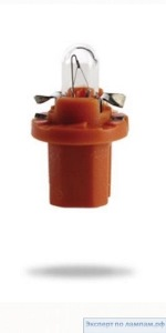 Лампа автомобильная Narva Plastic base lamps (BAX) 12V 1.2W BX8.5d orange - Narva-17019