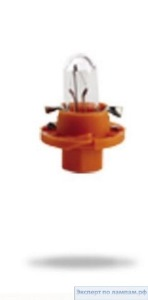 Лампа автомобильная Narva Plastic base lamps (BAX) 12V 1.1W BX8.4d orange - Narva-17046