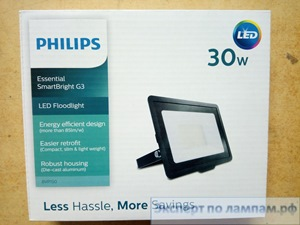 Светодиодный прожектор Philips LED BVP150 LED25/NW 30W 220-240V SWB 2550lm 4000K 170x130x30 black - PH-871016333018199