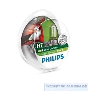 Автомобильная лампа H7 12972 LL H7 12V 55W PX26d Longer Life PHILIPS - PH-871150047222960