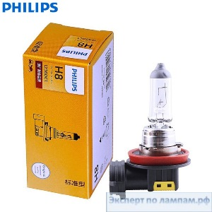 Галогеновая лампа для легковых автомобилей Philips H8 Standard 12360C1 12V 35W PGJ19-1 (8727900371017) - PH-8711500475824