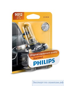 Галогеновая лампа для легковых автомобилей Philips H8 Standard 12360B1 12V 35W PGJ19-1 (8727900362909) - PH-8711500824165