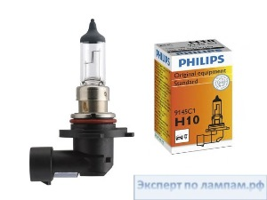 Галогеновая лампа для легковых автомобилей Philips H10 Standard 9145C1 12V 45W PY20d (8727900370737) - PH-8711559529745