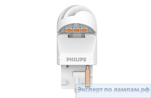 Светодиодная лампа Philips LED-AMBER [WY21W] XU2 11065XUAXM 12V 1.8W W3x16d (8719018051622) - PH-8719018051615
