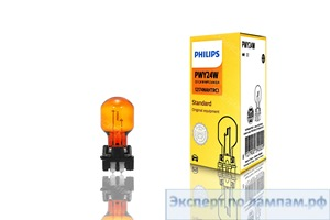Галогеновая лампа для легковых автомобилей Philips PWY24W Standard 12174NAHTRC1 12V 24W WP3,3x14,5/4 (8727900397345) - PH-8727900392029