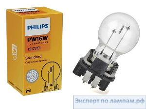 Галогеновая лампа для легковых автомобилей Philips PW16W Standard 12177C1 12V 16W WP3,3x14,5/8 (8727900396249) - PH-8727900396232