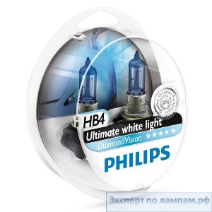 Галогеновая лампа для легковых автомобилей Philips HB4 DiamondVision 9006DVS2 12V 55W P22d (8727900532494) - PH-8727900532487