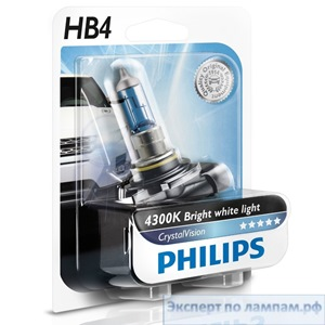 Галогеновая лампа для легковых автомобилей Philips HB4 CrystalVision 9006CVB1 12V 60W P22d (8727900533026) - PH-8727900533019