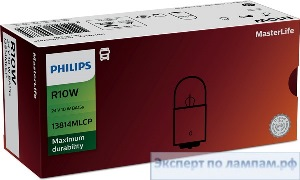 Галогеновая лампа для грузовых автомобилей Philips R10W MasterLife 13814MLCP 24V 10W BA15s (8727900390742, 8727900699685) - PH-8727900699678