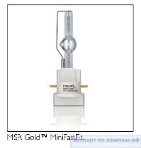 Металлогалогенная студийная лампа PHILIPS MSR GOLD 700/2 7200K MiniFastFit PGJX28 - PH-928199905114