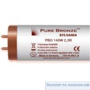 Лампа специальная для солярия Sylvania Pure Bronze PBO 180W 2,0 R 1,9m with reflector Extra-long tubes - SYL-0001233